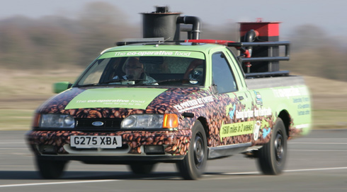 Martin Bacon attempts to set a new World Record in a Coffee Fuelled Car