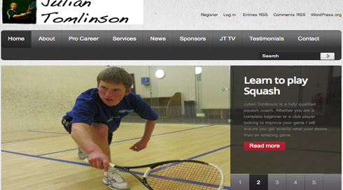 Squash Star Hits The Net!