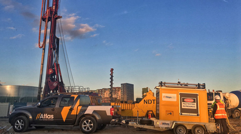 NDT Titan 650 Conducts Pile Testing In London