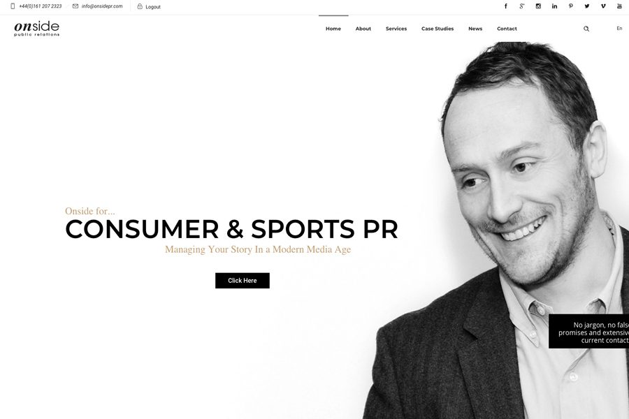 Onside PR launch new website