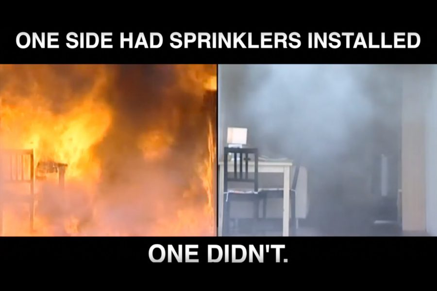 Fire Sprinklers Demonstration