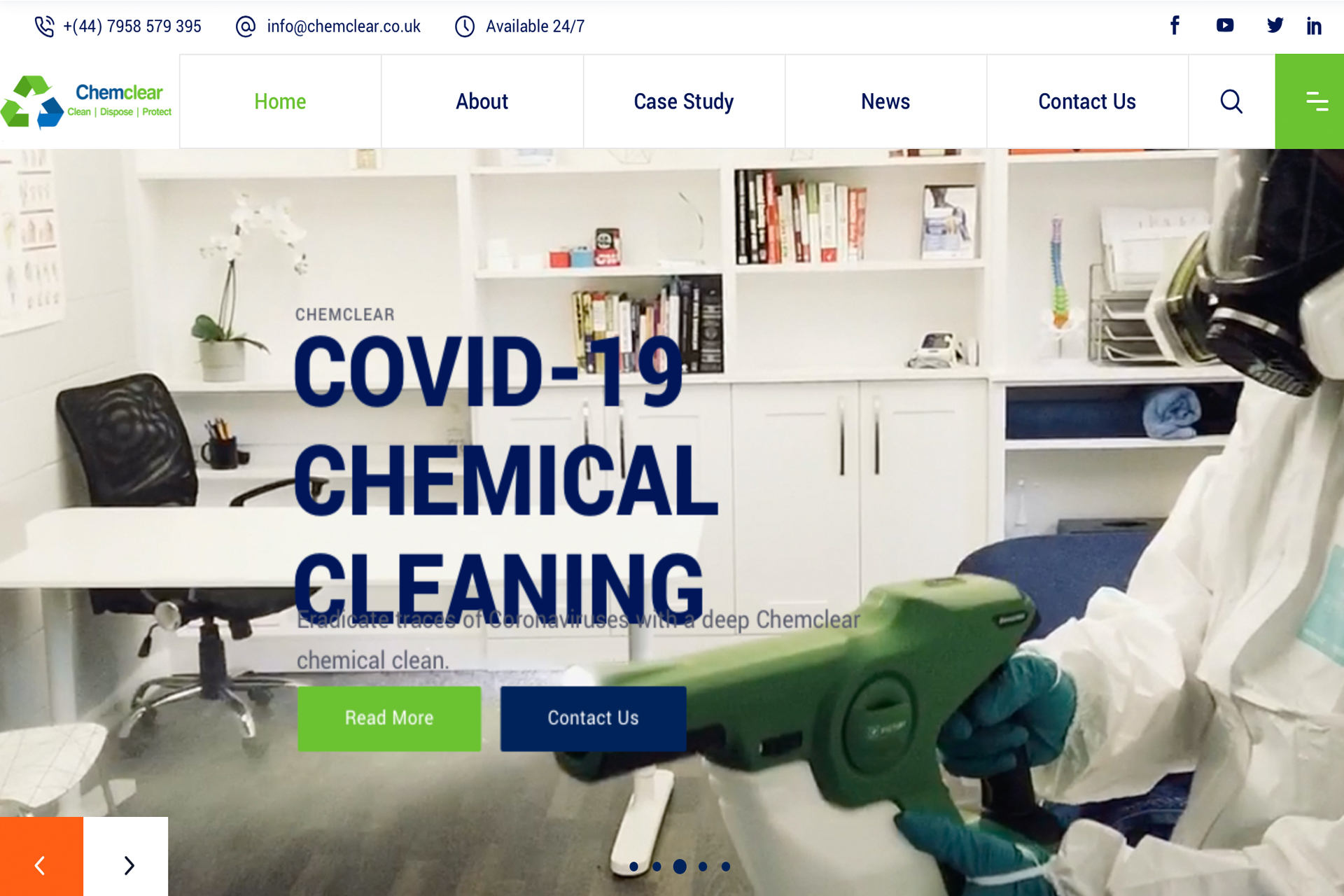 Onside PR Create Chemclear Website